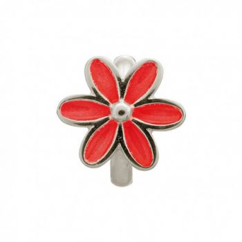 Endless Jewelry Charm Red Enamel Flower Silver 41155-3