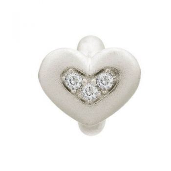 Endless Jewelry Charm White Triple Love Silver 41300-1