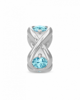 Endless Jewelry Charm Sky Blue Infinity Ocean Silver 41361-3