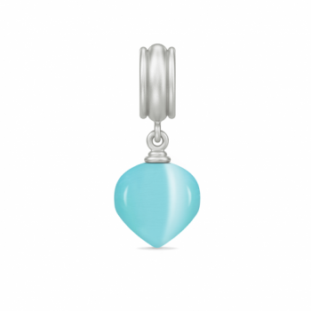 Endless Jewelry Charm Aqua Blue Spring Love Silver 43530-2