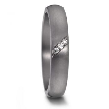 TeNo Partnerring Tantal mit 1 Diamant 0.03 ct 59610/003/003/X000