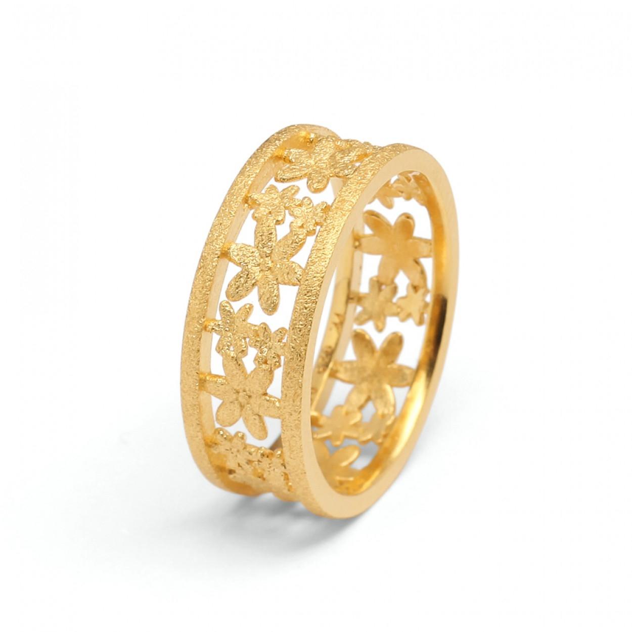 Ring Bernd Wolf Florino Silber goldplattiert 53304506