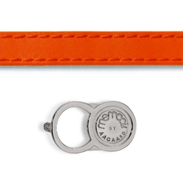 Memooir Lederarmband orange mit Schloss 07101157-40