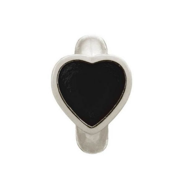 Endless Jewelry Charm Black Enamel Heart Silver 41200-2
