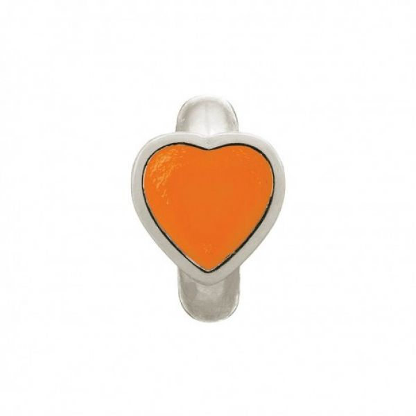 Endless Jewelry Charm Coral Enamel Heart Silver 41200-4