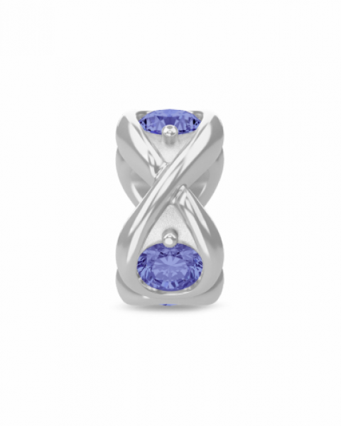 Endless Jewelry Charm Tanzania Blue Infinity Ocean Silver 41361-2